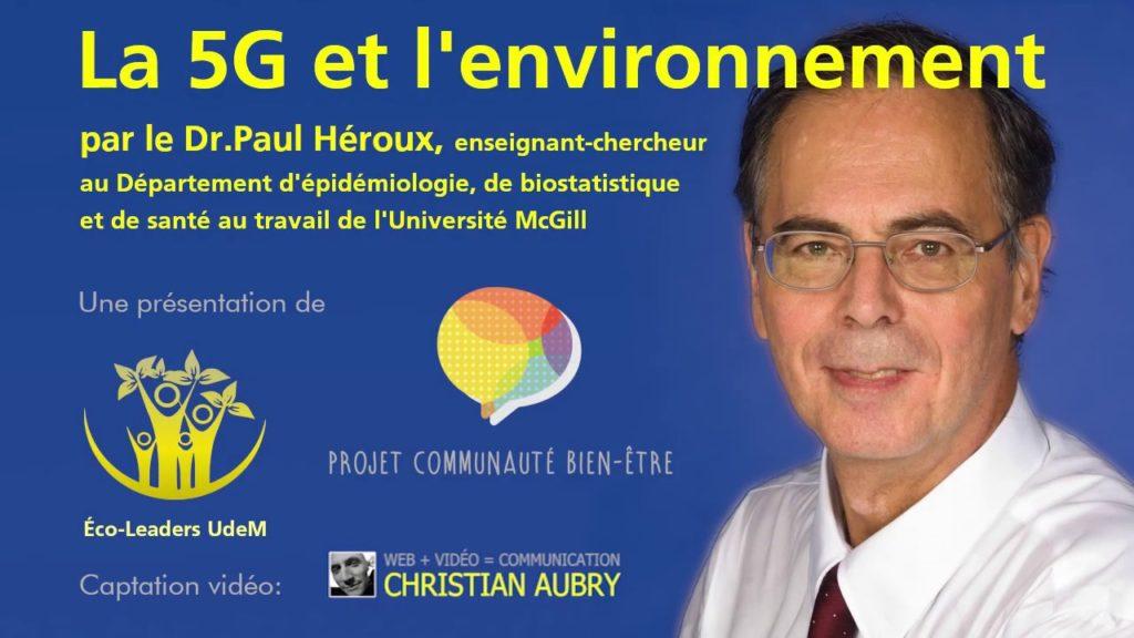 Le Dr Paul Héroux enseignant-chercheur au département d'épidémiologie, de biostatistique, et de santé au travail de l'université McGill à Montréal au Canada.